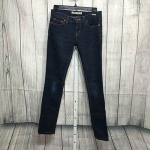 J Brand Low Rise Pencil Leg Jeans Size 26 Inseam30